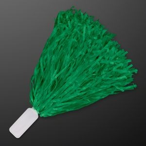 Economy Green Pom Poms (Non-Light Up)